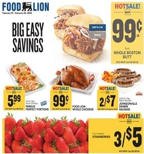 Food Lion Weekly Circular February 19 - February 25, 2020. Big Easy Savings!