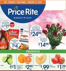 Price Rite Weekly Circular February 7 - February 13, 2020. Happy Valentine's Day!