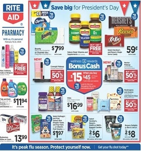 Rite Aid Weekly Ad February 16 - February 22, 2020. President's Day Deals!