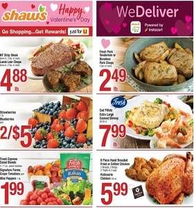 Shaw's Weekly Circular February 7 - February 13, 2020. Happy Valentine's Day!
