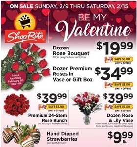ShopRite Weekly Circular February 9 - February 15, 2020. Valentine's Day Deals!