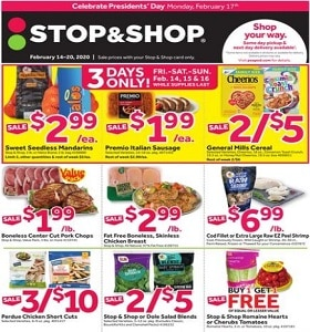 Stop & Shop Weekly Ad February 14 - February 20, 2020. Last Minute Sweetheart Deals!