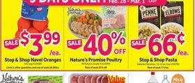Stop & Shop Weekly Flyer February 28 - March 5, 2020. Lent Seafood Specials!
