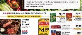 ShopRite Weekly Flyer April 5 - April 11, 2020. Prim Rib Roast on Sale!