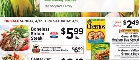 ShopRite Weekly Circular April 12 - April 18, 2020. Boneless Sirloin Steak
