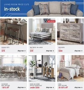 Ashley Furniture Specials May 26 - June 1, 2020. Price Cuts