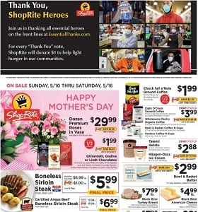 ShopRite Weekly Ad May 10 - May 16, 2020. Happy Mother's Day!