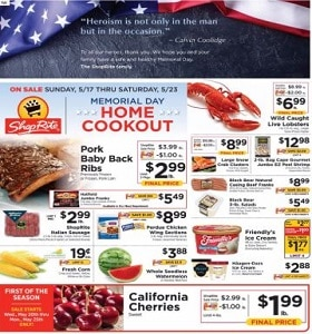 ShopRite Weekly Flyer May 17 - May 23, 2020. Memorial Day Home Cookout!