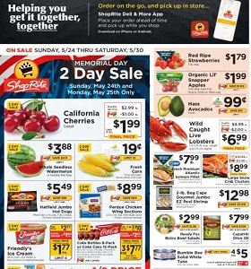 ShopRite Weekly Ad May 24 - May 30, 2020. Memorial Day 2-Day Sale!