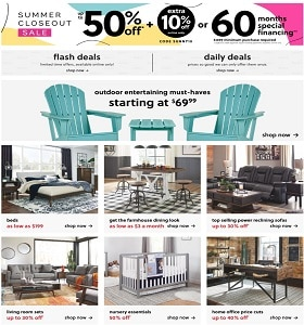 Ashley Furniture Weekly Ad June 2 - June 9, 2020. Summer Closeout Sale!