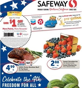 Safeway Weekly Circular July 1st - July 7th, 2020. Celebrate 4th Of July!