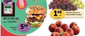 Safeway Weekly Ad June 10 - June 16, 2020. Impossible Burger