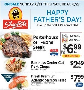 ShopRite Weekly Ad June 21 - June 27, 2020. Happy Father's Day!