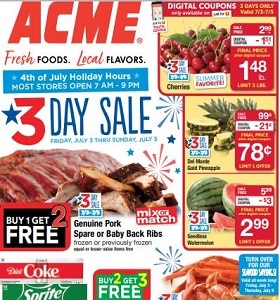 Acme Weekly Circular July 3 - July 9, 2020. 4th Of July Savings!