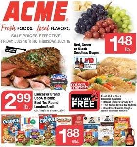 Acme Weekly Ad July 10 - July 16, 2020. Seedless Grapes on Sale!