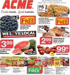 Acme Weekly Ad July 17 - July 23, 2020. Back To School Deals!