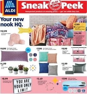 Aldi Weekly Ad July 15 - July 21, 2020. Your New Nook HQ!