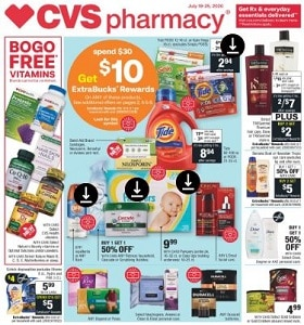CVS Weekly Circular July 19 - July 25, 2020. Everyday Essentials!