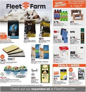 Fleet Farm Weekly Ad July 10 - July 18, 2020. Sprout Bites & Bones Adult Dog Food