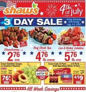 Shaw's Weekly Circular July 3 - July 9, 2020. 4th Of July Deals!