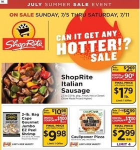ShopRite Weekly Circular July 5 - July 11, 2020. Hot Sale!