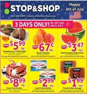 Stop & Shop Weekly Ad July 3 - July 9, 2020. Celebrate 4tyh Of July!