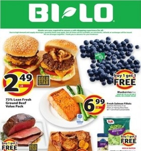 BI-LO Weekly Ad August 5 - August 11, 2020. Fresh Salmon Fillets