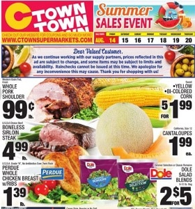 Ctown Weekly Ad August 14 - August 20, 2020. Summer Sales Event!