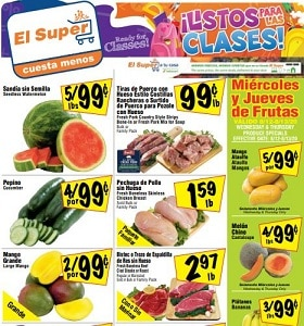El Super Weekly Flyer August 12 - August 18, 2020. Ready For Classes!