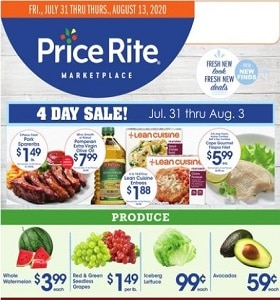 Price Rite Weekly Ad July 31 - August 13, 2020. Incredibly Low Prices!