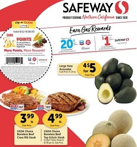 Safeway Weekly Flyer August 12 - August 18, 2020. Dollar Days!