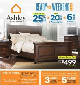 Ashley Furniture Circular Ad September 18 - September 21, 2020. Ready For The Weekend Sale!
