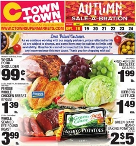 Ctown Weekly Circular September 18 - September 24, 2020. Autumn Sale-A-Bration!
