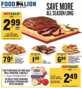 Food Lion Weekly Ad September 16 - September 22, 2020. Save More!