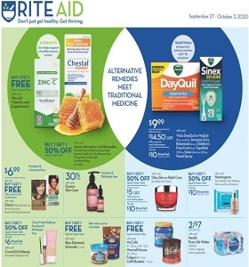 Rite Aid Weekly Flyer September 27 - October 3, 2020.  Essano Skin Care on Sale!