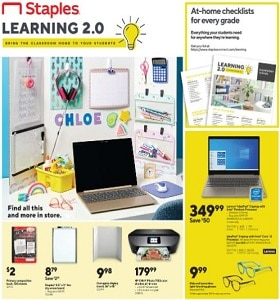 Staples Weekly Ad September 27 - October 3, 2020. Cosco Window Paint Markers
