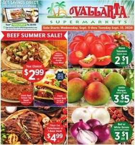 Vallarta Weekly Circular September 9 - September 15, 2020. Beef Summer Sale!
