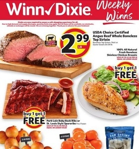 Winn Dixie Weekly Ad September 9 - September 15, 2020. Angus Beef Whole Boneless Top Sirloin