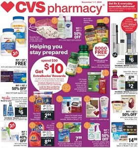 CVS Weekly Ad November 1 - November 7, 2020. Get ExtraBacks Rewards
