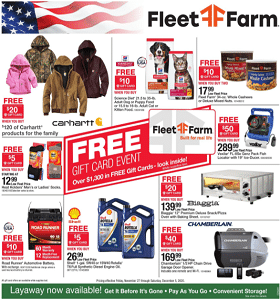 Fleet Farm Weekly Ad November 27 - December 3, 2020. Free Gift Card Event!