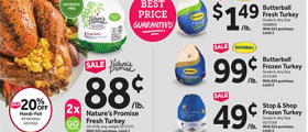 Stop & Shop Weekly Ad November 20 - November 26, 2020. Nature's Promise Fresh Turkey on Sale!