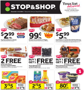 Stop & Shop Weekly Ad December 4 - December 10, 2020. Cooking Carrots on Sale!