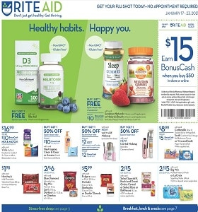 Rite Aid Weekly Flyer January 17 - January 23, 2021. Keep Your Healthy Habbits!