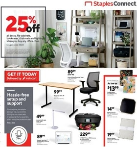 Staples Weekly Ad February 21 - February 27, 2021. Desks & Bookcases on Sale!