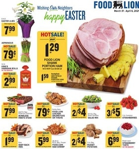 Food Lion Weekly Ad March 31 - April 6, 2021. Happy Easter!