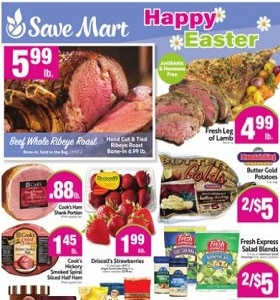 Save Mart Weekly Ad March 31 - April 6, 2021. Happy Easter!