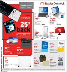 Staples Weekly Circular March 7 - March 13, 2021