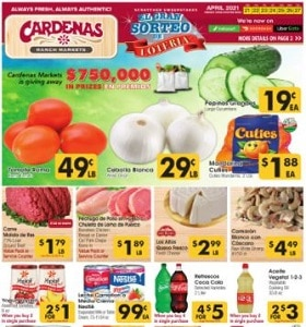 Cardenas Weekly Flyer April 21 - April 27, 2021. Win More Prizes!