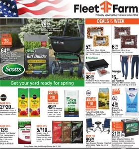Fleet Farm Weekly Ad April 9 - April 17, 2021. Get Your Yard Ready For Spring!