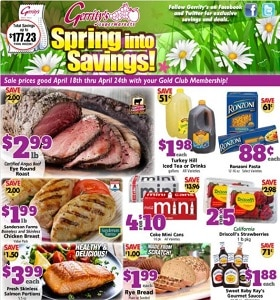 Gerrity's Weekly Ad April 18 - April 24, 2021. Spring Into Savings!